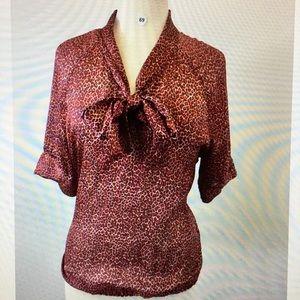 New York & co animal print blouse B-69